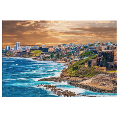 San Juan Puerto Rico Coastline Canvas Wall Art