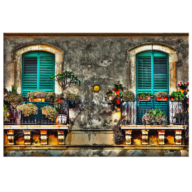 Balcony of Memories in Cuba Canvas Wal Art