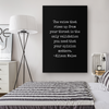 Listen To Your Own Voice Canvas Wall Art