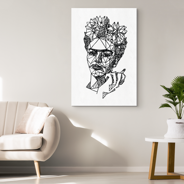 Geometric Frida Canvas Wall Art