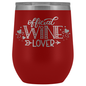 Official Wine Lover 12oz Wine Tumbler