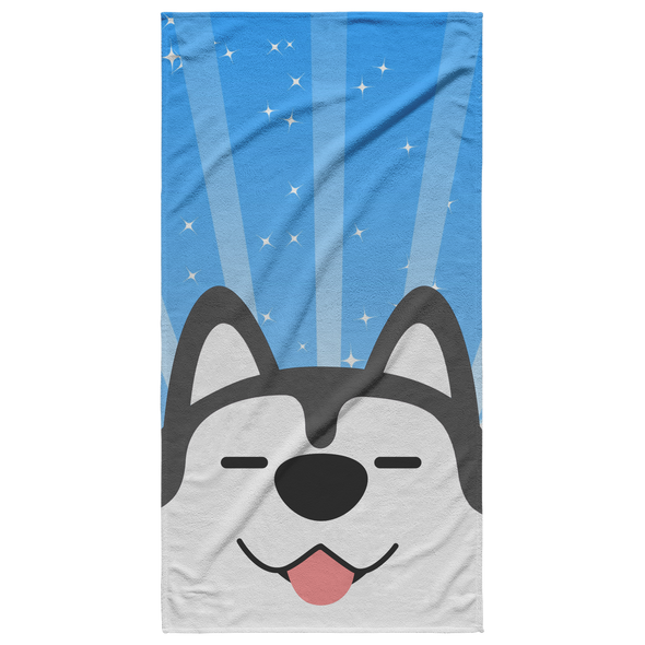 Husky Love Beach Towel