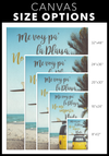Me Voy Pa' La Playa No Me Importa Nada Canvas Wall Art
