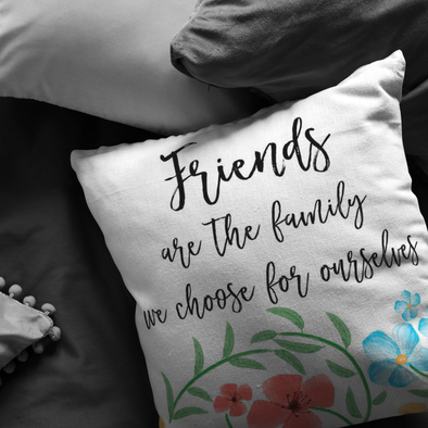 Friends Are Family Throw Pillow
