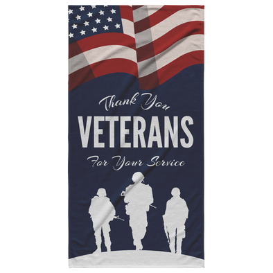 Thank You Veterans For Your Service Beach Towel