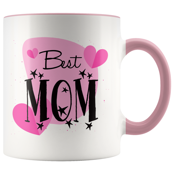 Best Mom 11oz Accent Mug