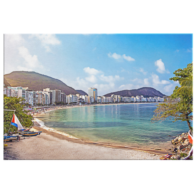 Playa de Copacabana Brazil Painting Oleo Style Canvas Wall Art