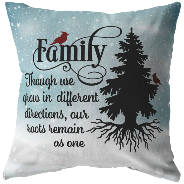 Our Roots Remain As One Christmas Throw PIllow