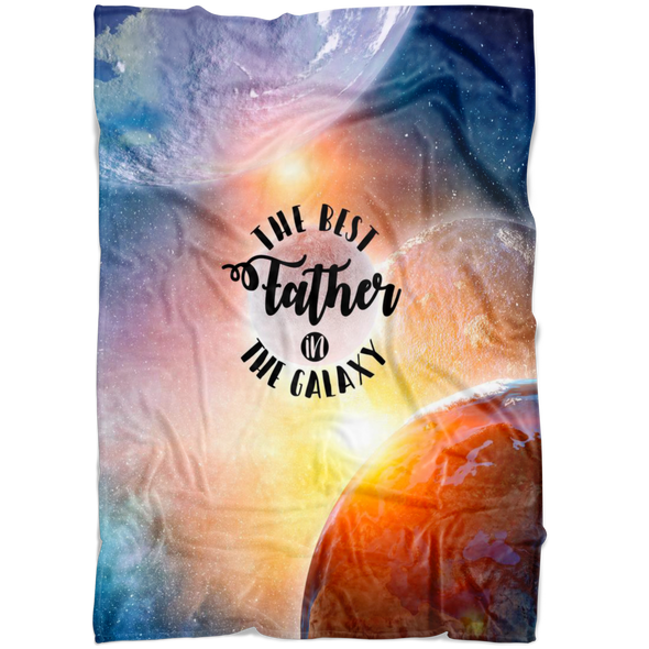 The Best Father In The Galaxy Fleece Blanket