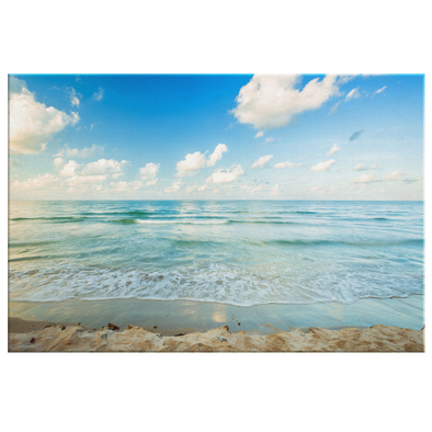 Early Morning On The Beach Canvas Wall Art