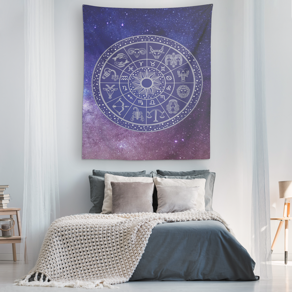 The Universe & Astrology Vertical Tapestry