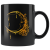 Boho Moon 11oz Black Mug