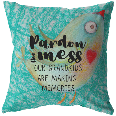 Pardon the Mess Throw Pillow