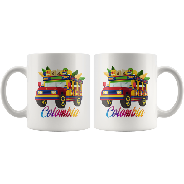 Colombia Chiva 11oz White Mug