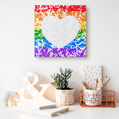 Love is Love Canvas Wall Art Personalzed by Con Gusto