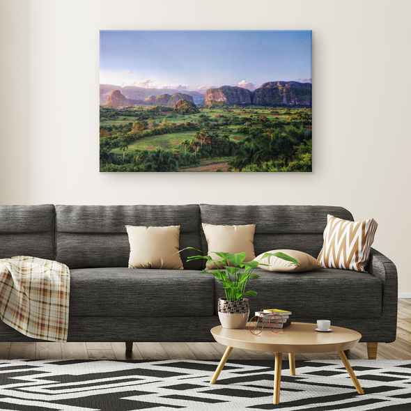 Valle De Viñales Cuba Canvas Wall Art