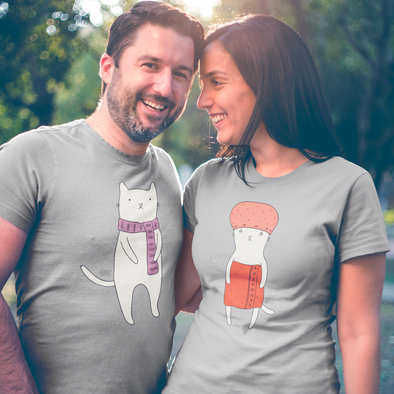Hubby Cat Men's Matching T-Shirt