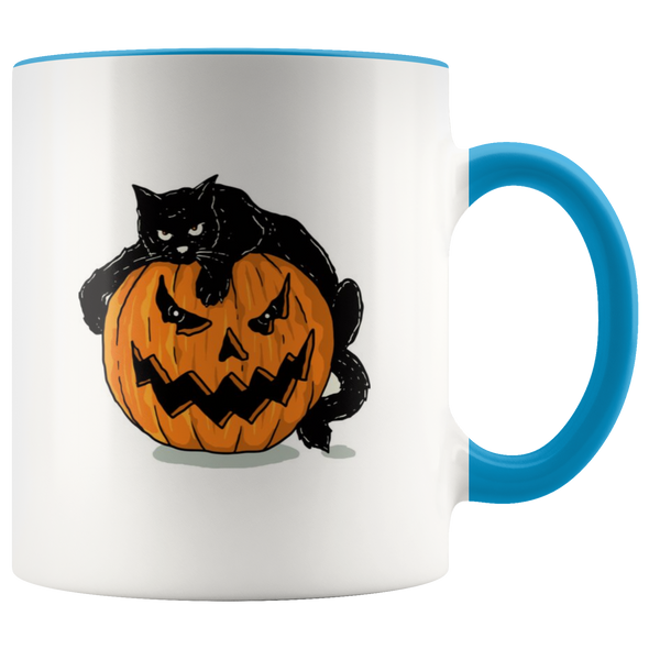 Halloween Bad Mood Cat 11oz Accent Mug