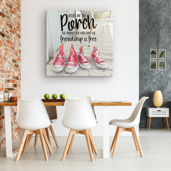 Relax on the Porch Canvas Wall Art