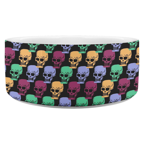 Retro Skulls Pet Bowl