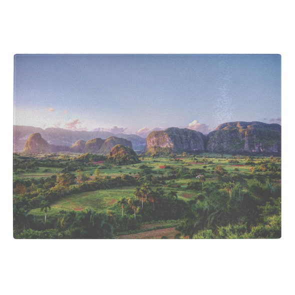 Valle De Viñalles Cuba Glass Cutting Board