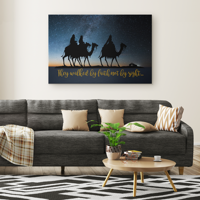 They Walked by Faith Not by Sight Canvas Wall Art