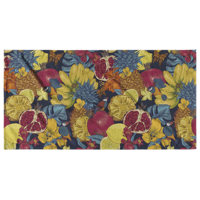 Flowers & Parakeet Beach Towel
