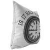 Is It Half Time Yet Super Bowl Throw Pillow