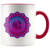 Mandala in Pink 11oz Accent Mug