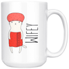 Wifey + Hubby Cats 15oz Matching White Mug