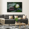 Blossoming Into A Badass Woman Canvas Wall Art