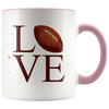 Love Football 11oz Accent Mug