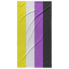 Nonbinary Pride Flag Beach Towel