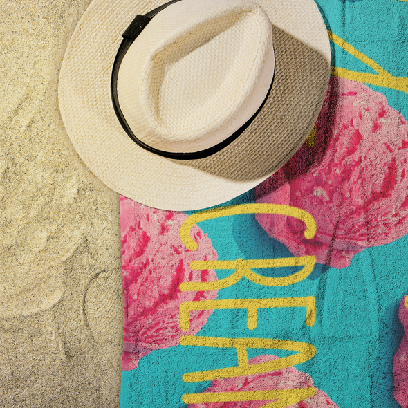 All You Need Is Ice Cream Beach Towel