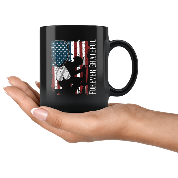 Forever Grateful 11oz Black Mug