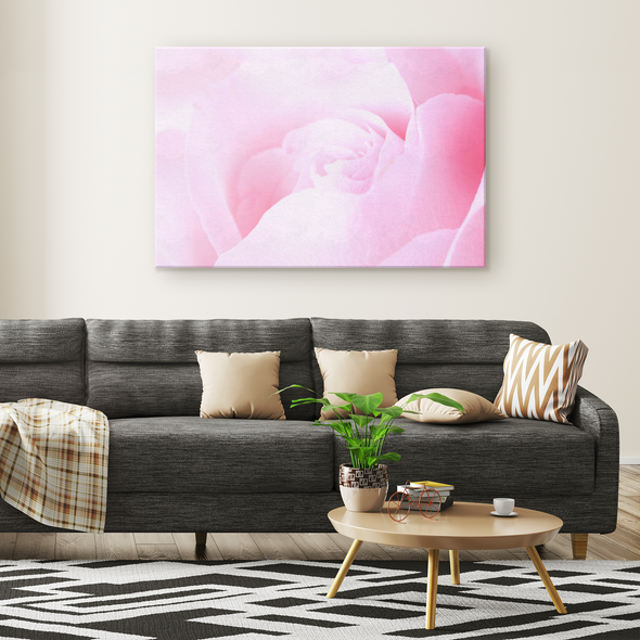 Spring Pink Rose Canvas Wall Art