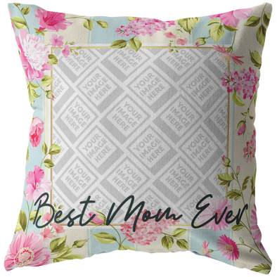 Best Mom Ever Throw Pillow Personalized by Con Gusto
