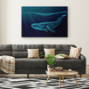 Geometric Whale Canvas Wall Art