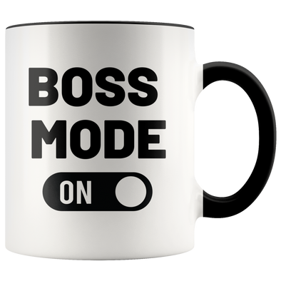 Boss Mode ON 11oz Accent Mug