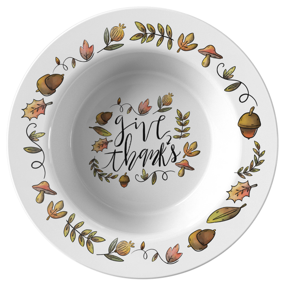 "Give Thanks 8.5"" Bowls"