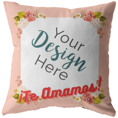 Te Amamos Throw Pillow Personalized by Con Gusto