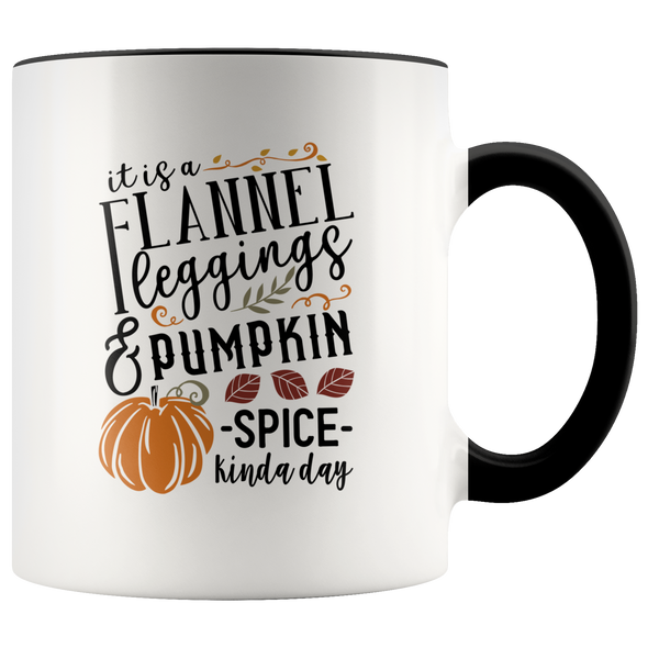 Flannel Leggins and Pumpkin Spice 11oz Accent Mug