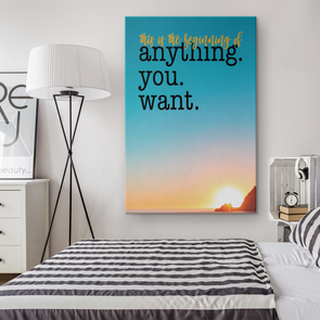 This Is The Beginning Canvas Wall Art