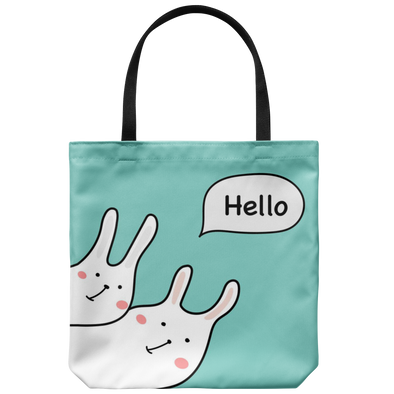 Hello Bunnies Tote Bag