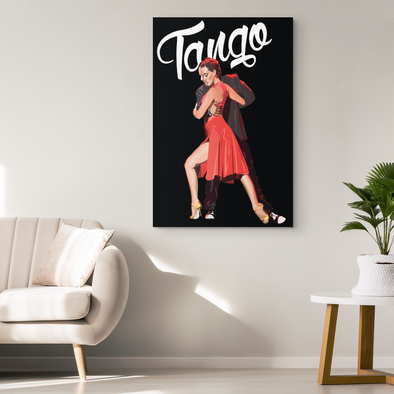 Vintage Tango Canvas Wall Art