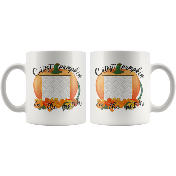 Cutest pumpkin in the patch Mug - Personalized By Con Gusto