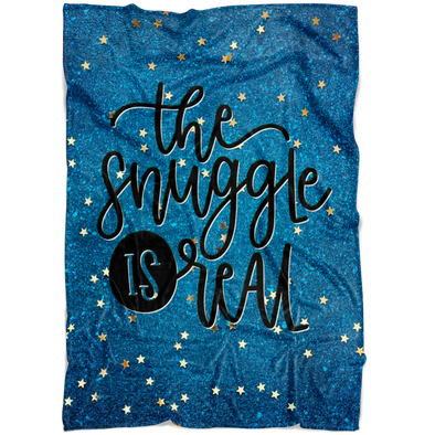 The Snuggle Is Real Fleece Blanket