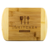 Gourmet Kitchen Round Edge Bamboo Cutting Board