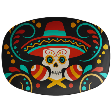 "Day of the Death 10x14"" Serving Platter"