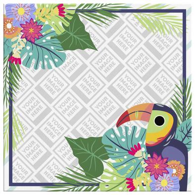 Tropical Buddy Canvas Wall Art Personalzed by Con Gusto